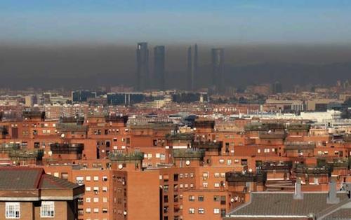 Contaminación madrileña (Fuente: www.escolar.net)