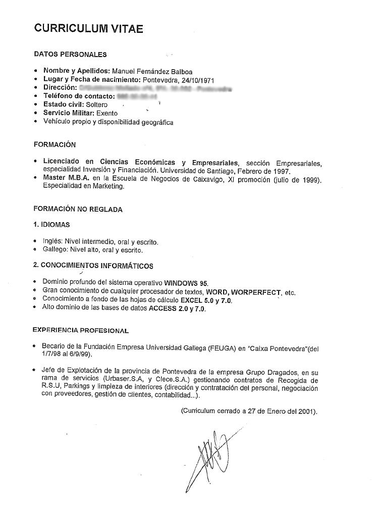 Escolar.net » El currículum del cuñado de Rajoy