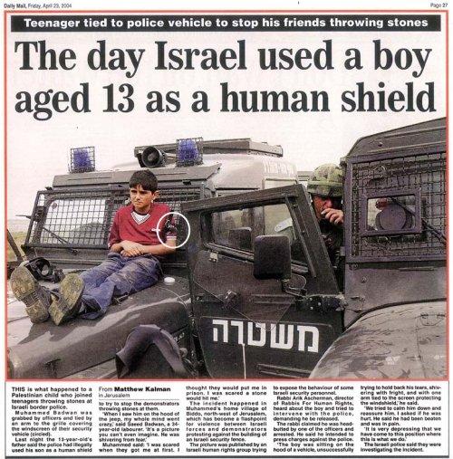 10.000 palestinos huyen ante la amenaza de Israel Humanshield1