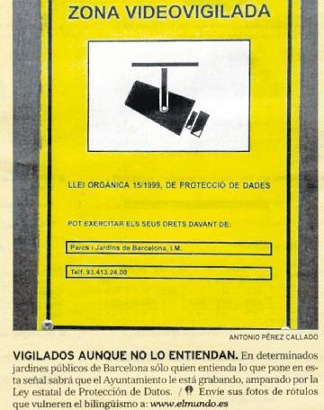Camaras de videovigilancia ilustradme - Cartel de videovigilancia ...
