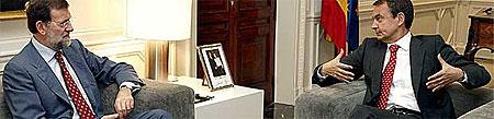 Zapatero y Rajoy en la Moncloa